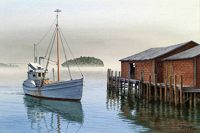 Maine Painting - Coming In by Paul Krapf