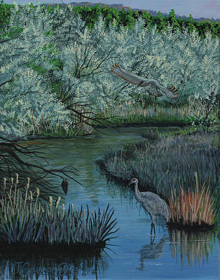 Glade Creek Painting - Coming In by Timithy L Gordon