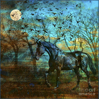 Judy Wood Digital Art - Coming Of The Night by Judy Wood