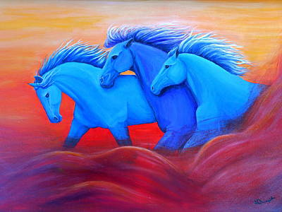 Horse Purse Painting - Coming Through The Storm by Nancy Quiaoit