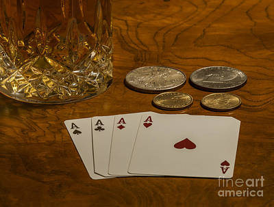 4 Aces Photograph - Coming Up Aces by Dale Powell