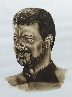 commander William Riker Star Trek TNG Print by Giulia Riva