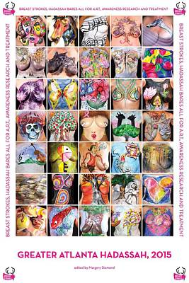 Bare Breasts Photograph - 2015 Commemorative Breast Strokes Poster by Breast Strokes Hadassah Greater Atlanta