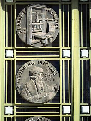 Commemorative Printing Medallions Print by Chris Hellier