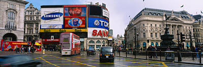 Eros Photograph - Commercial Signs On Buildings by Panoramic Images