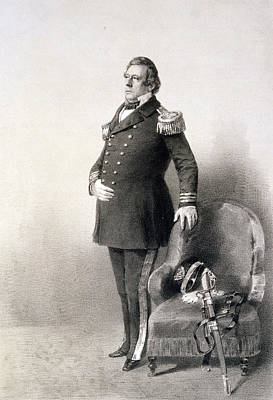 Full-length Portrait Painting - Commodore Matthew Calbraith Perry by Wilhelm Heine