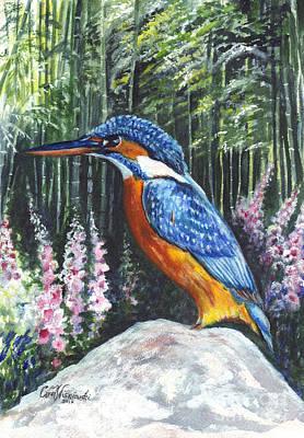 Kingfisher Drawing - Common Kingfisher  by Carol Wisniewski