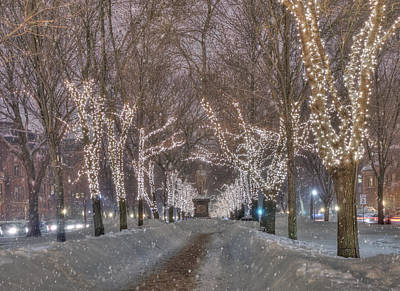 Winter In New England Photograph - Commonwealth Ave Mall - Boston by Joann Vitali