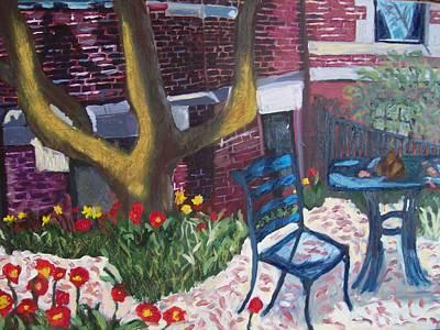 Commonwealth Avenue Boston Original by Carmela Cattuti