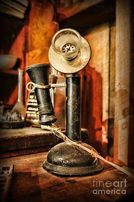 Antique Telephone Photograph - Communication - Candlestick Phone by Paul Ward