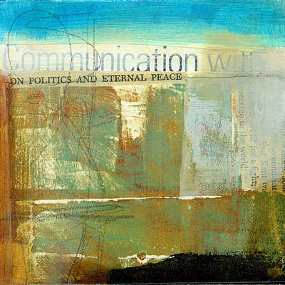 Communication Painting - Communication With by Jane Davies