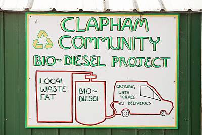 Community Biodiesel Project Print by Ashley Cooper