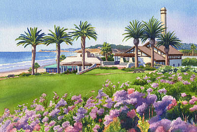 Center Painting - Community Center At Del Mar by Mary Helmreich