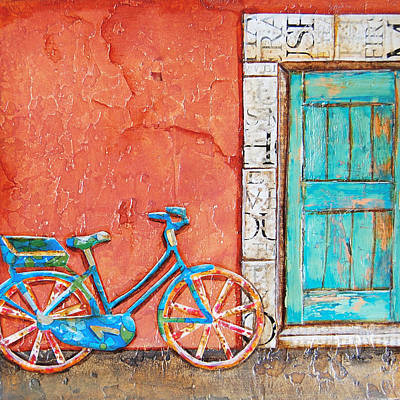 Bicycle Art Mixed Media - Commuter's Dream by Danny Phillips