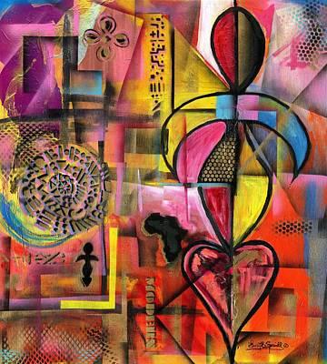 Wynton Marsalis Mixed Media - Compassionate Woman X2 by Everett Spruill
