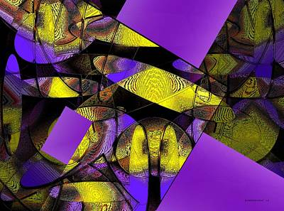 Lilac Digital Art - Complementary Colors In Abstract Art by Mario Perez