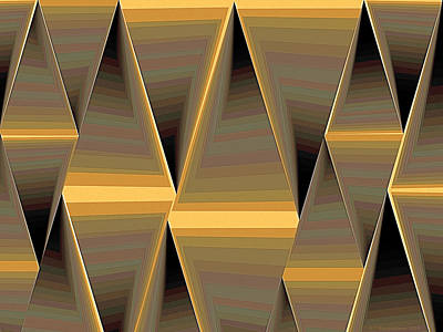 Abstract Pattern Digital Art - Composition 168 by Terry Reynoldson