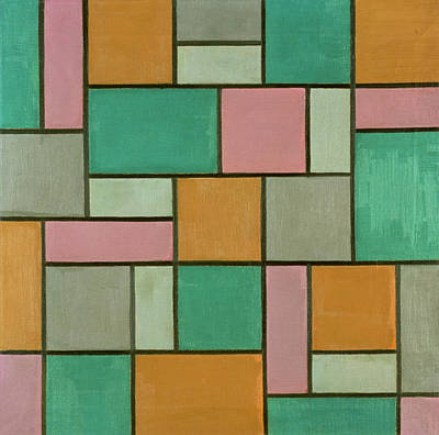 Composition Seventeen Print by Theo van Doesburg
