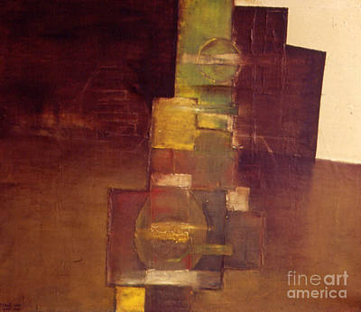 Large Painting - Composition With Toys by Mirek Bialy