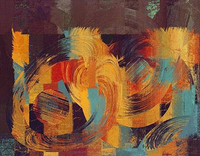 Multicolored Digital Art - Composix - 033100100act by Variance Collections