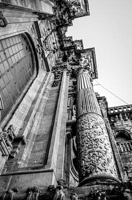 Compostela Cathedral Columns Print by Justin Murazzo