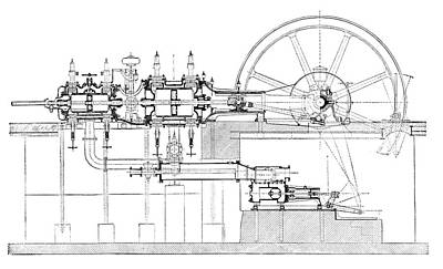 Compound-tandem Engine Print by Science Photo Library