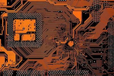 Computer Motherboard Print by Antonio Romero