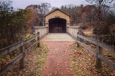 Comstock Covered Bridge 2 Print by Joan Carroll