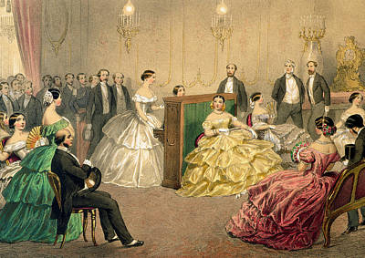 Concert At The Chausee D'antin Print by Henri de Montaut