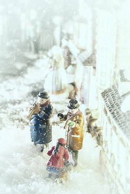 Musicos Photograph - Concert In The Snow by Caitlyn  Grasso