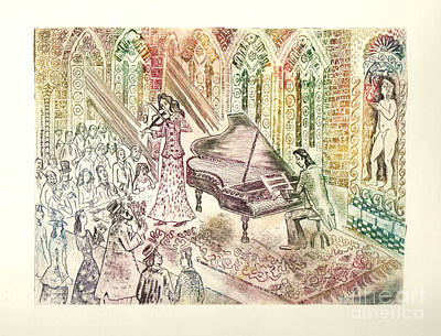 Statue Drawing - Concert by Milen Litchkov