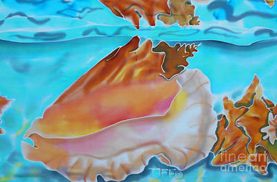 Scuba Painting - Conch Shallows by TIFF Barrett