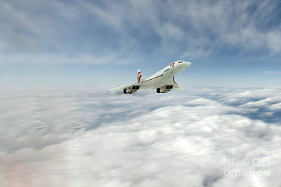 Concorde Legend Print by J Biggadike