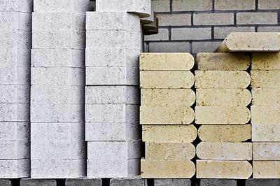 Concrete Slabs Print by Tom Gowanlock