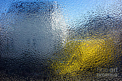 Mosaic Tesserae Tiles Photograph - Condensation 03 - White House And Yellow Lorry by Pete Edmunds