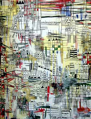Chaos Painting - Condominium by Cris Pires