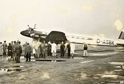 World War Ii Bomber Photograph - Condor Aircraft Before Take-off by Eye On The Reich: German Propaganda Photographs/new York Public Library