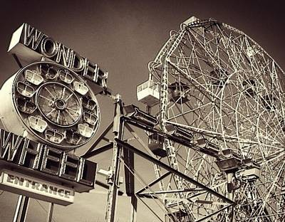 Cdkirven Mixed Media - Coney Island by CD Kirven