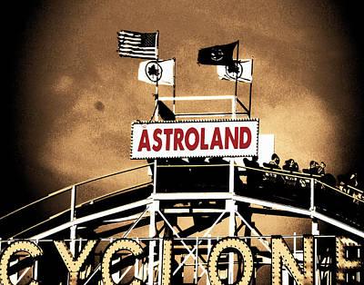 Amusements Mixed Media - Coney Island Cyclone by Marilu Windvand