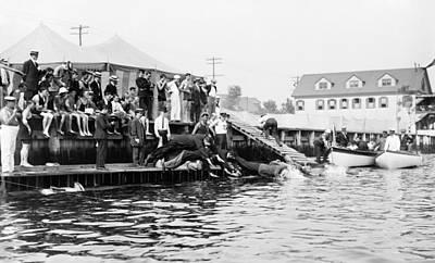 Steeplechase Race Photograph - Coney Island Men's Race by Granger