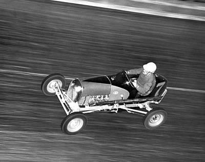 Racecars Photograph - Coney Island Midget Race Car by Underwood Archives