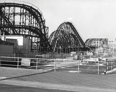 Roller Coaster Photograph - Coney Island - Roller Coaster by MMG Archives