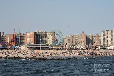 Coney Island Seen From The Pier Print by John Telfer