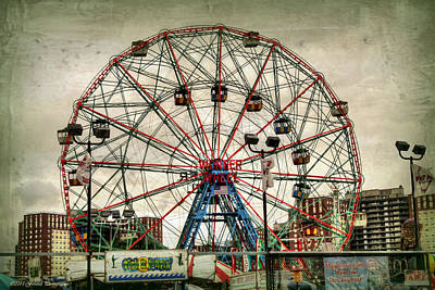 Rollercoaster Photograph - Coney Island Wonder Wheel  by Debra Forand