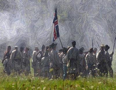 Confederate Advance To Webster's Hill - Perryville Ky Print by Thia Stover