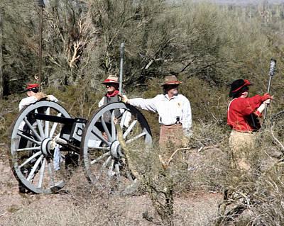 Military Photograph - Confederate Battery by Joe Kozlowski