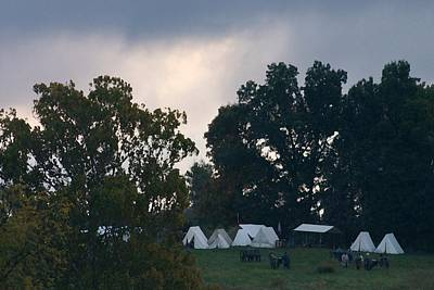 Confederate Camp Pre-dawn Battle - Perryville Ky  Print by Thia Stover