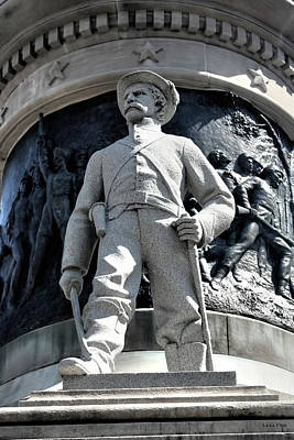 Statue Of Confederate Soldier Photograph - Confederate Soldier II Alabama State Capitol by Lesa Fine