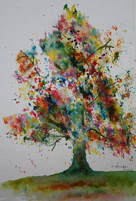Painting - Confetti Tree by Patsy Sharpe