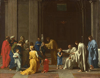 Nicolas Poussin Painting - Confirmation by Nicolas Poussin